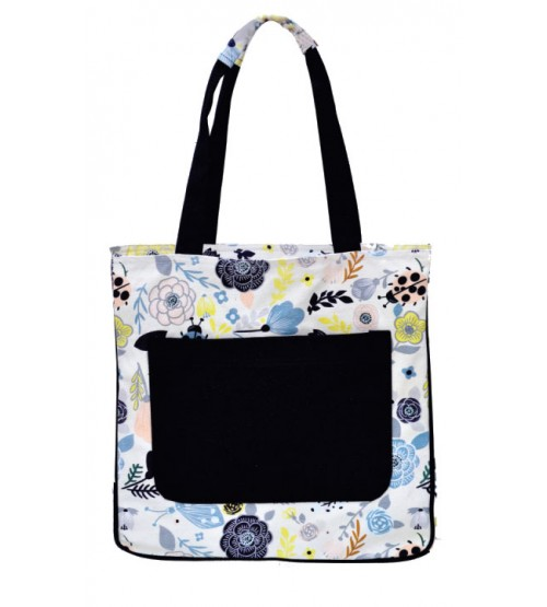 Flower Print Medium Sized Bag