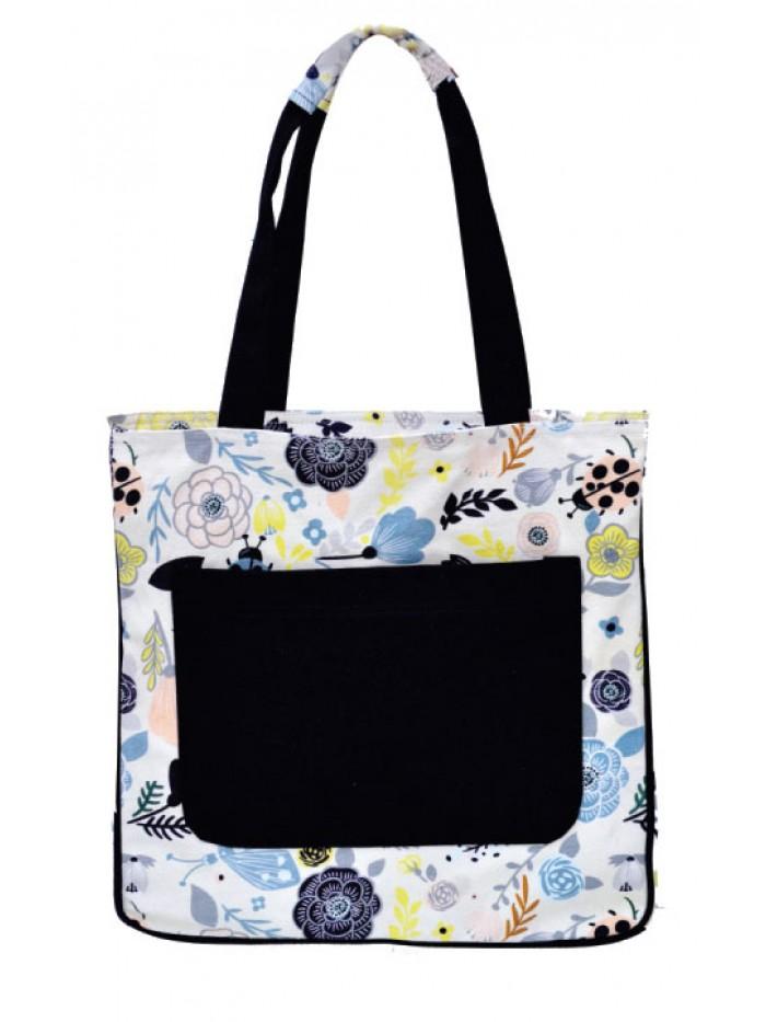 Flower Print Medium Sized Bag