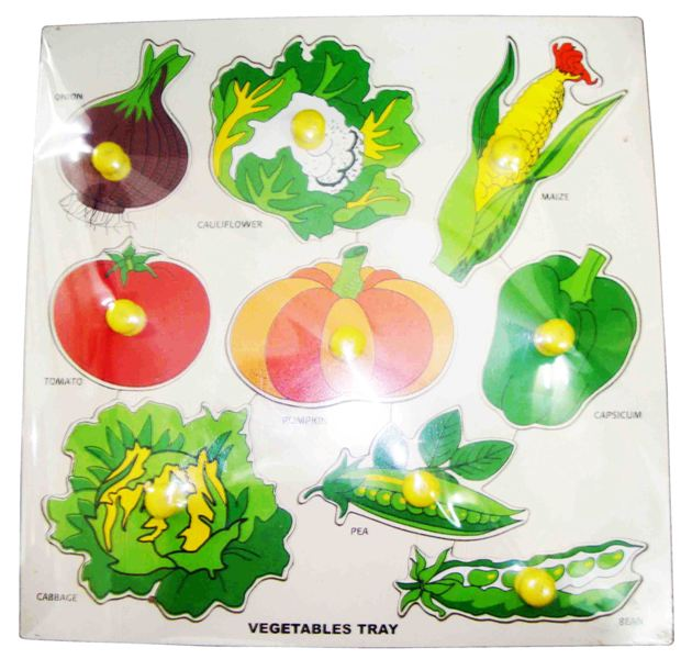 Wooden 3D Vegetable Tray