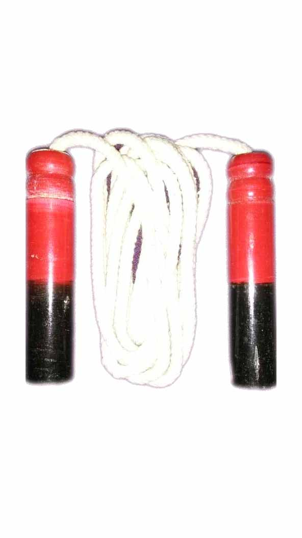 Cotton Skipping Rope with Wooden Handle Pro