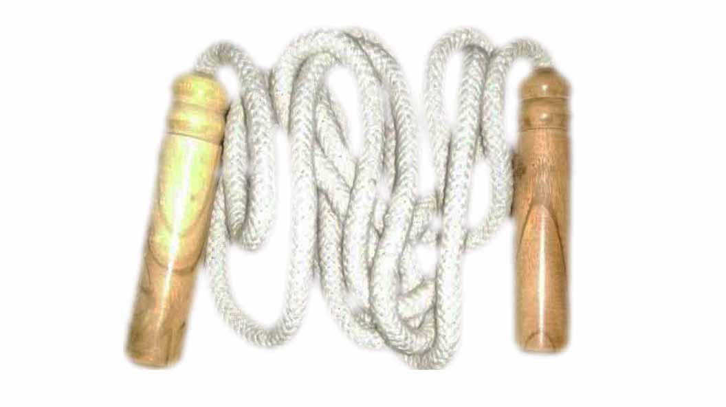 Cotton Skipping Rope with Wooden Handle Super