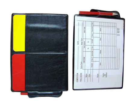 Referee card wallet