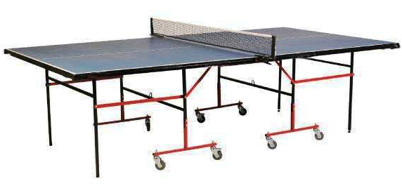 Table Tennis Table Practice with Wheels