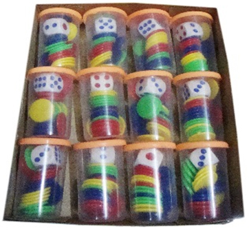Ludo coins with dice