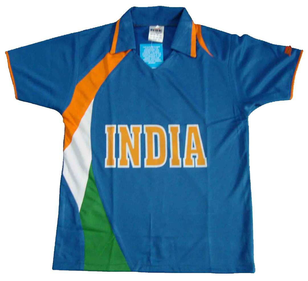 Indian Team Cricket T-Shirt Polyester with front S...
