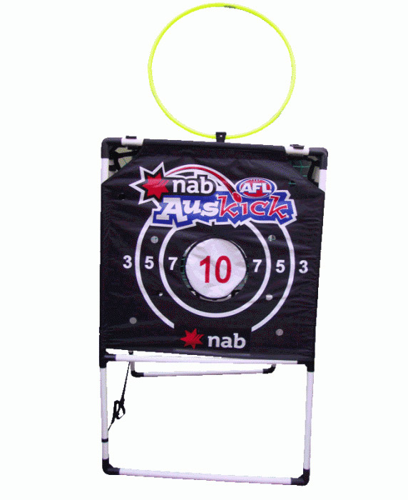Footy Training Machine with Target, Rebounder and ...