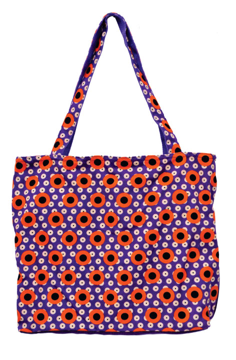 Designer Print Purple Large Sized Bag