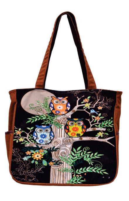 Owl Print Medium Sized Bag