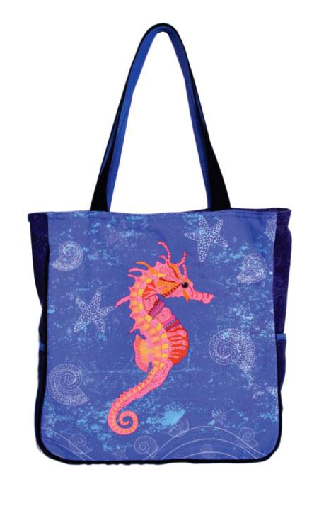 Sea Horse Print Medium Sized Bag